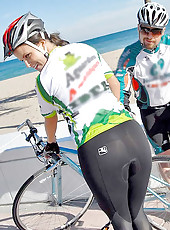 Deisy gets fucked by her bike trainer hard in these hot tour de pants pics