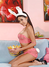 Danika sexy Easter bunny from Asia!