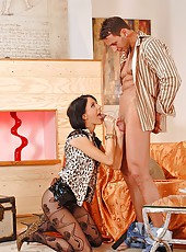 Horny Liz sucking and riding cock