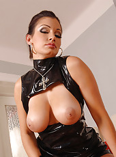 Beautiful babe Aria Giovanni strips