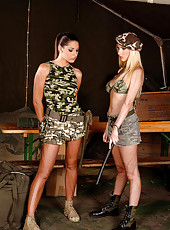 Hot babes enjoy lesbian role play
