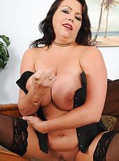 Busty 39 year old Angelica Sin sexilly dominating the camera man