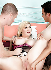 Double-dicked 38ddd Blonde