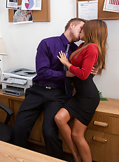 Gorgeous babe Madison Ivy cheats on her husband to fuck her big cocked boss.