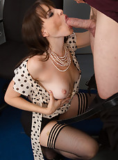 Gorgeous brunette babe gets fucked by her horny big cocked boss.