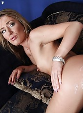 Sexy babe shows off ass and gets fucked by big cock.
