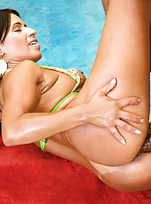 Check out this hot ass fucking big ass brazilian get nailed hard in her juicy ass hot poolside wet pics