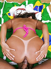 Check out this hot big ass brazilian babe get nailed hard in her hot ass in these outdoor beach fuck pics