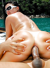 Amazing sexy ass brazilan gets her rock hard ass fucked hard by the pool after getting picked up in these slamming bikini pics