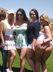 Gina Lynn Golfs With Friends