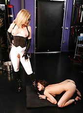 Nina Hartley and Adana bondage