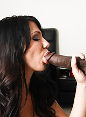 Sexy brunette housekeeper Madison Rose banged by huge black cock