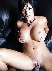 Hot brunette pornstar Shay Fox riding huge black cock