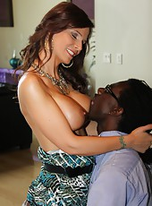 Hot mom pornstar Syren Demer love suck and fuck huge black dongs