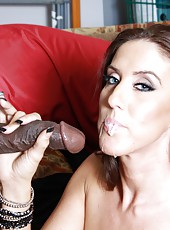 Sexy milf pornstar Gianna Foxxx service black guy with pleasure