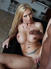 Blonde mature pornstar Brooke Tyler banged hard by huge black cock