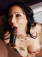 Hot brunette mom Zoey Holloway fucked hard by big black cock