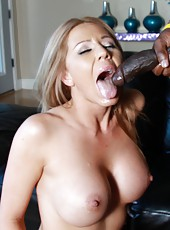 Sexy milf Ashley Winters with perfect tits ride huge black rod