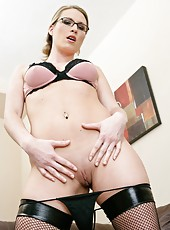 Nasty blonde milf Harmony Rose plays with her gentle and sweet hole