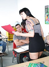 Crazy anal fuck with a nasty brunette teacher whose name is Victoria Sin