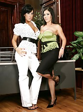 Sweet lesbian action with hot girls whose names are Claire Dames and Ricki White