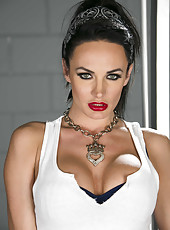 Beautiful and passionate brunette milf Alektra Blue is ready for a hot action