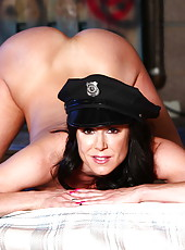 Crazy and bad cop Kendra Lust demonstrates her delicious ass and a hot boobs