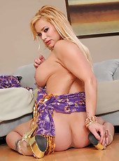 Shyla Stylez takes off her dress and shows a sweet and juicy pussy