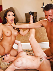 Amazing lesbian action with pretty bitches named Alexis Ford and Asa Akira