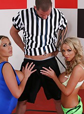 Great threesome fuck with beautiful ladies named Alanah Rae and Nikki Benz