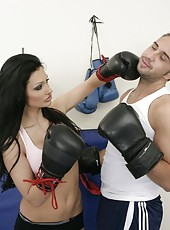 Real bombshell with big boobs Aletta Ocean knows how to win this battle