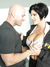 Horny and strict short haired milf Shay Fox uses pleasant ways of education