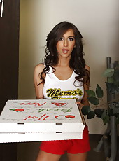 Pizza delivery babe April O