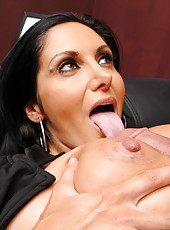 Smoking hot brunette milf with huge tits Ava Addams fucked on the patrol