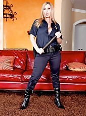 The sweetest patrol with big titted milf named Devon Lee in sexy uniform