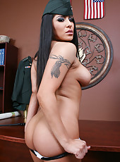 General Mrs. Jenaveve Jolie has a tempting and wild striptease hobby