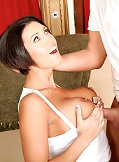 Short haired milf with maddening body Dylan Ryder sucks and gets fucked