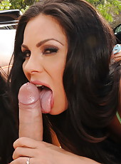 Carwash day turns into orgy with Kirsten Price, Madison Ivy, Monique Alexander and Rachel Starr