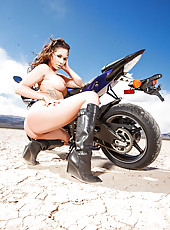 Astounding babe Destiny Dixon loves to show off her stunning body after hot ride