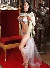 The hottest medieval milf Missy Martinez plays with her big tits and hot toys