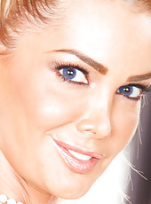 Gorgeous and glamorous blonde model Devon with big tits and beautiful eyes