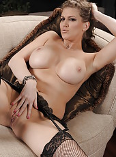 Fantastic milf in super sexy stockings Eve Laurence poses with passion