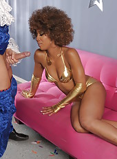 Crazy and fantastic fuck with an incredible ebony chick named Misty Stone