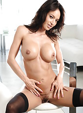 Gorgeous brunette Franceska Jaimes with perfect forms and fascinating smile