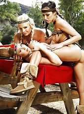 Thanksgiving day with hot milfs Alanah Rae, Breanne Benson and Phoenix Marie