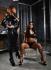 Big titted milf Jenaveve Jolie was fucked by a big dicked policeman right in the jail