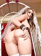 Naughty bride with big tits Courtney Cummz needs a passionate wedding