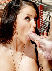 Super busty milf Jenna Presley fucking with big cock in the engine room