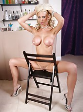 Petite and super glamorous blonde babe Tanya James has a lot of charming secrets