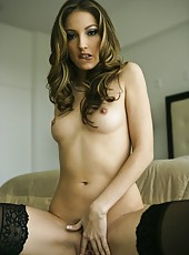 Jenna Haze demonstrates her perfect body in gorgeous stockings